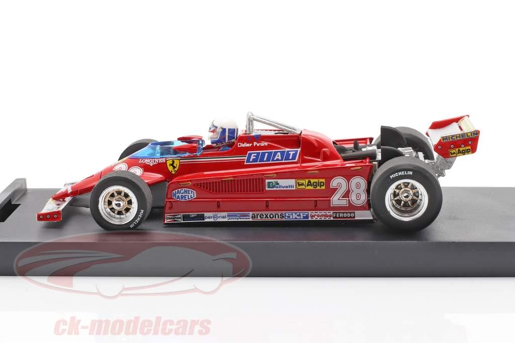Didier Pironi Ferrari 126CK #28 4e Monaco GP formule 1 1981 1:43 Brumm