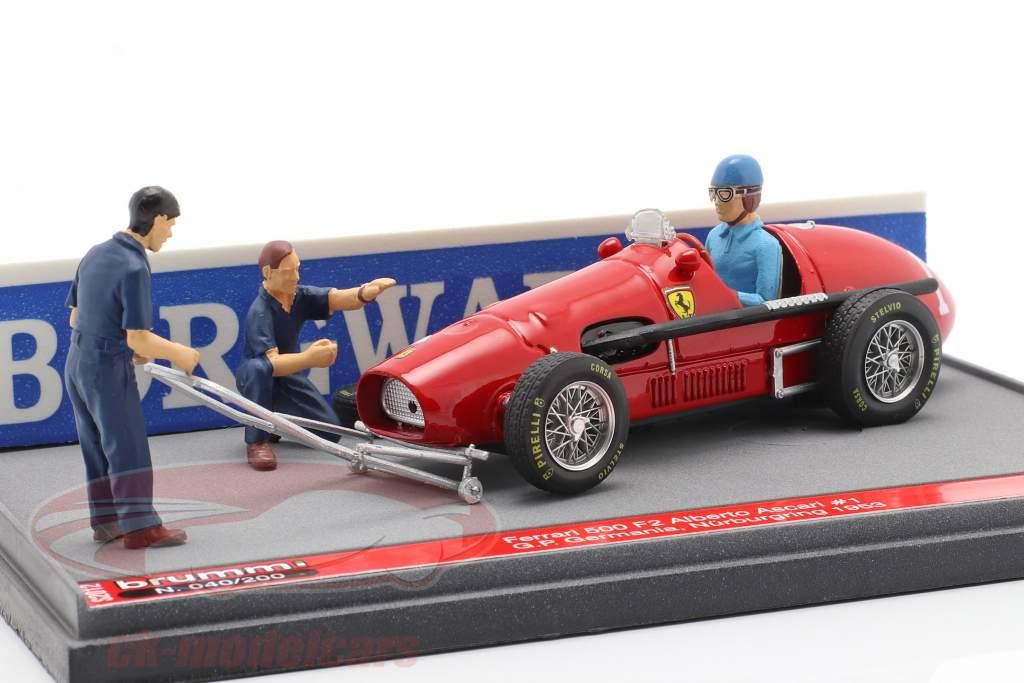 Alberto Ascari Ferrari 500 F2 #1 tysk GP F1 Verdensmester 1953 1:43 Brumm