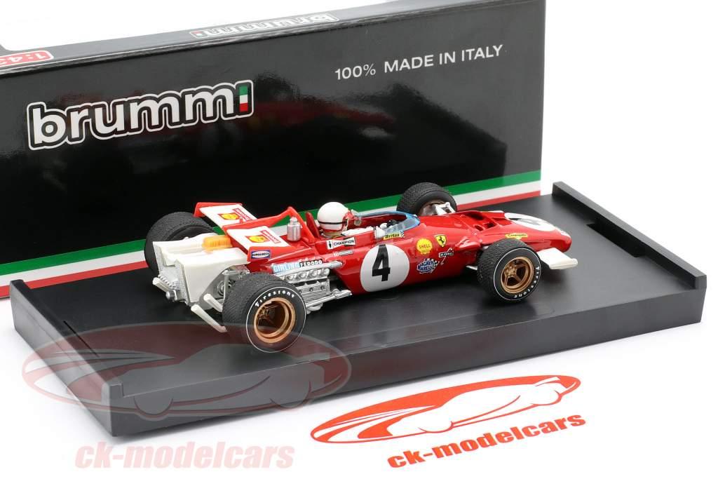 C. Regazzoni Ferrari 312 B N° 4 Formule 1 GP d'Italie 1970 1:43 Brumm