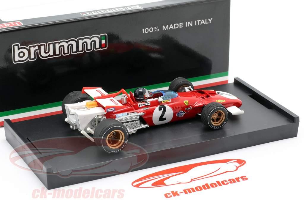 J. Ickx Ferrari 312B #2 GP Italia Fórmula 1 1970 1:43 Brumm