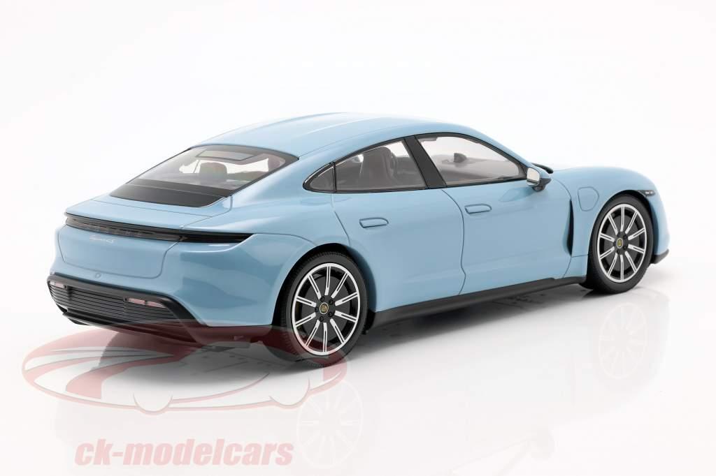 Porsche Taycan 4S Byggeår 2019 frozenblue metallic 1:18 Minichamps