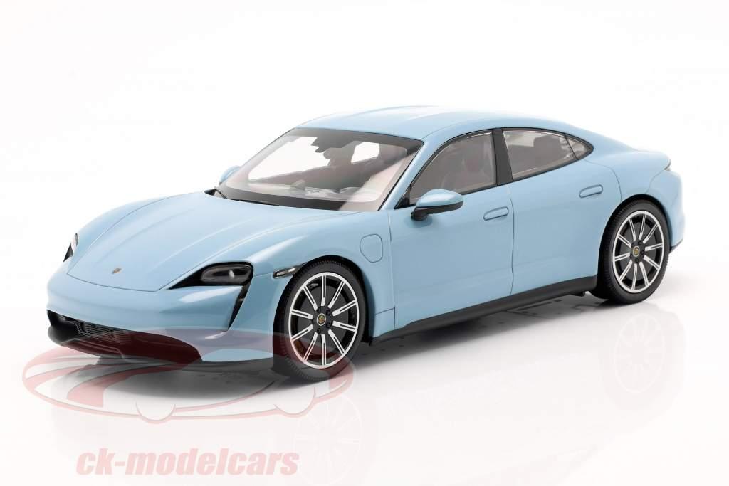 Porsche Taycan 4S Bouwjaar 2019 frozenblue metallic 1:18 Minichamps