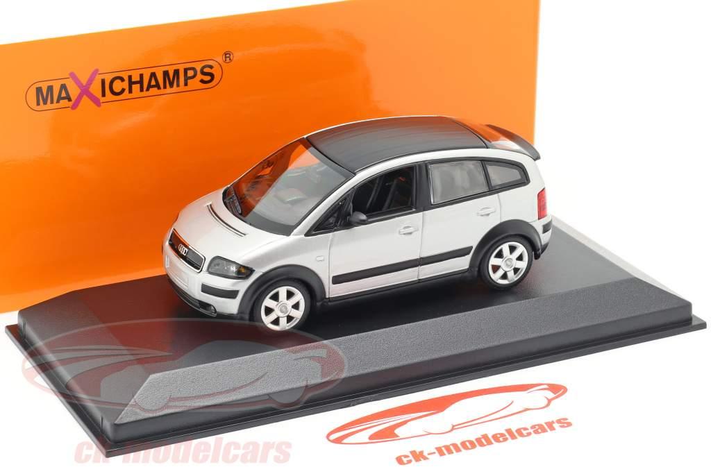 Audi A2 (8Z) Año de construcción 2000 plata 1:43 Minichamps