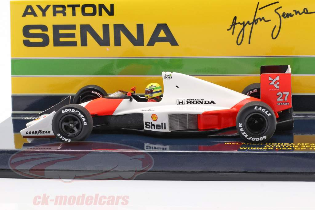 Ayrton Senna McLaren MP4/5B #27 gagnant Etats-Unis GP formule 1 1990 1:43 Minichamps