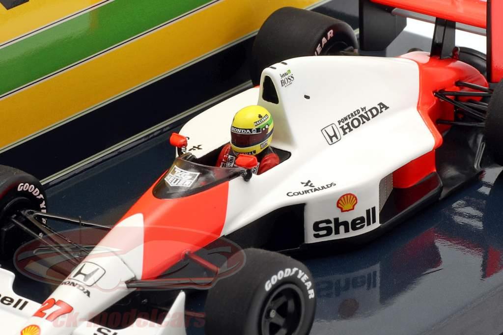Ayrton Senna McLaren MP4/5B #27 vencedora EUA GP Fórmula 1 1990 1:43 Minichamps