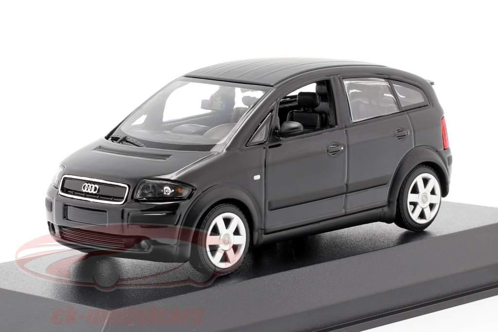 Audi A2 (8Z) Año de construcción 2000 negro metálico 1:43 Minichamps