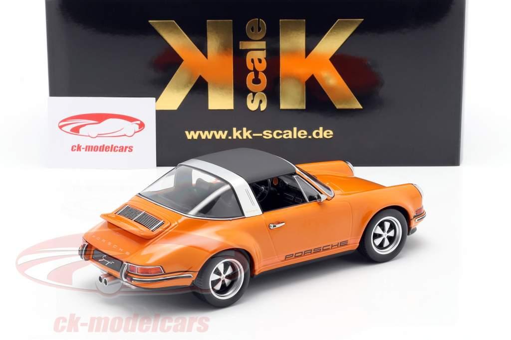 Porsche 911 Targa Singer Design arancia 1:18 KK-Scale