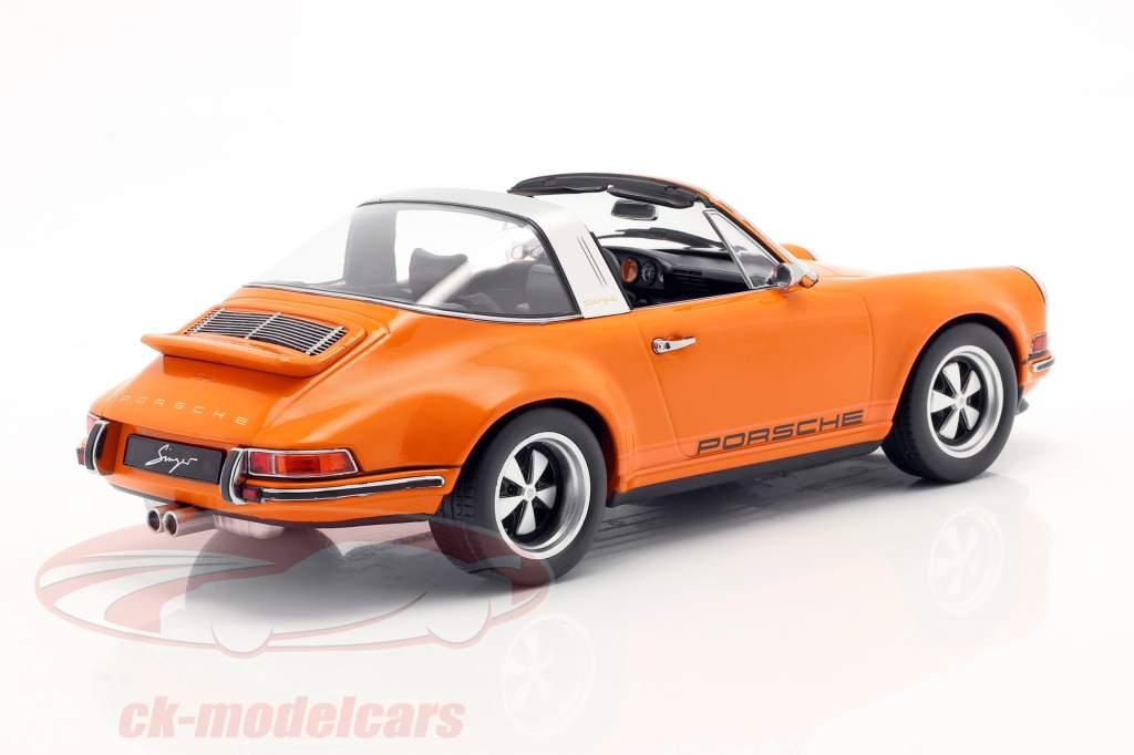 Porsche 911 Targa Singer Design orange 1:18 KK-Scale