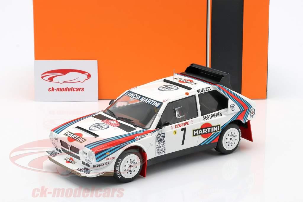 Lancia Delta S4 #7 vincitore Rallye Monte Carlo 1986 Toivonen, Cresto 1:18 Ixo