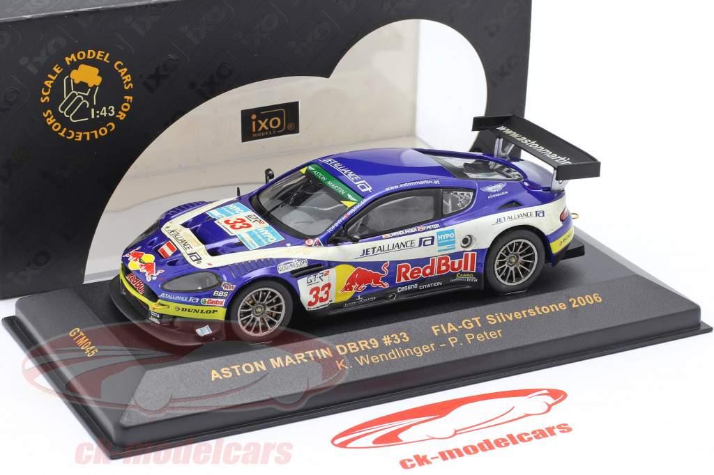 Aston Martin DBR9 #33 FIA GT Mesterskab Silverstone 2006 Wendllinger, Peter 1:43 Ixo