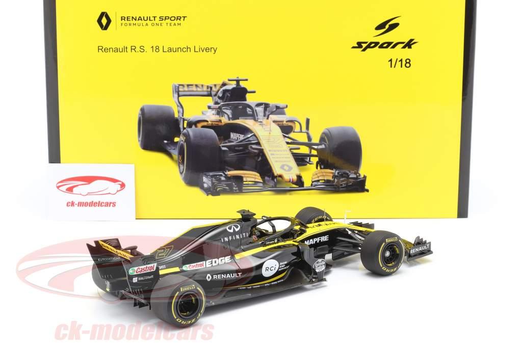 Nico Hülkenberg Renault R.S.18 #27 Launch Version formula 1 2018 1:18 Spark