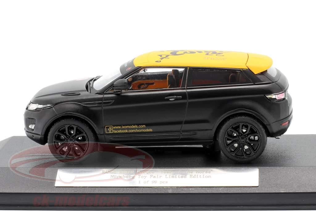 """Range Rover Evoque """"Year of the Horse"""" Nürnberg Toy Fair escarchado negro 1:43 Ixo"""