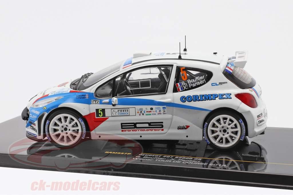 Peugeot 207 S2000 #5 Vencedora Tour de Course 2013 Bouffier, Panseri 1:43 Ixo