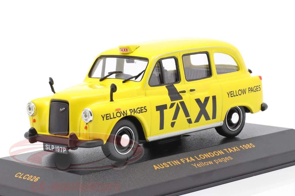 Austin FX4 London taxa år 1985 gul 1:43 Ixo