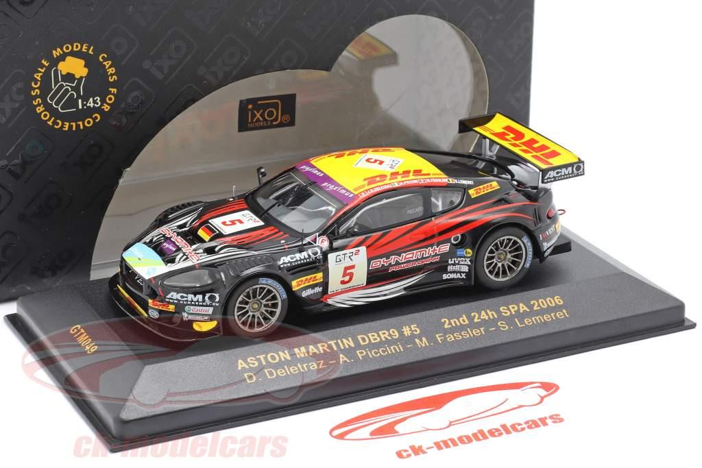 Aston Martin DBR9 #5 2. plads 24h Spa 2006 Deletraz, Piccini, Fassler, Lemeret 1:43 Ixo