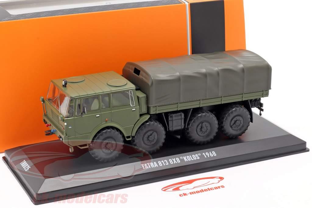 Tatra 813 8x8 Kolos Véhicule militaire Année de construction 1968 olive verte 1:43 Ixo