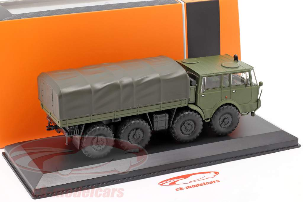 Tatra 813 8x8 Kolos Vehículo militar Año de construcción 1968 verde oliva 1:43 Ixo