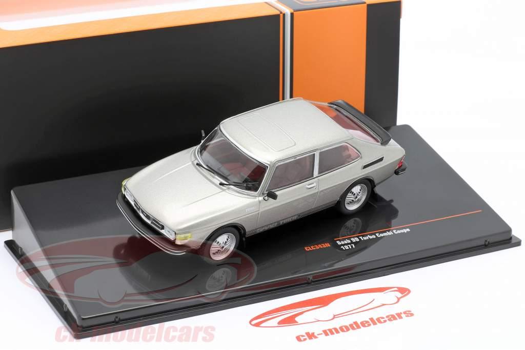 Saab 99 Turbo Combi Coupe Bouwjaar 1977 Grijs metalen 1:43 Ixo