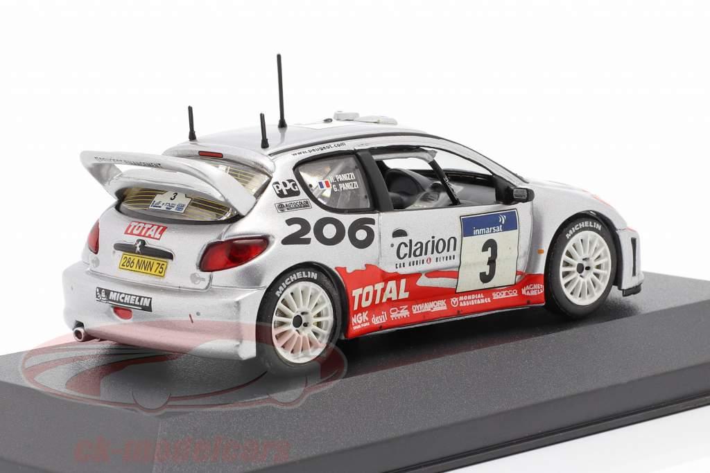 Peugeot 206 WRC #3 Winner Tour De Corse 2002 Panizzi, Panizzi 1:43 Ixo