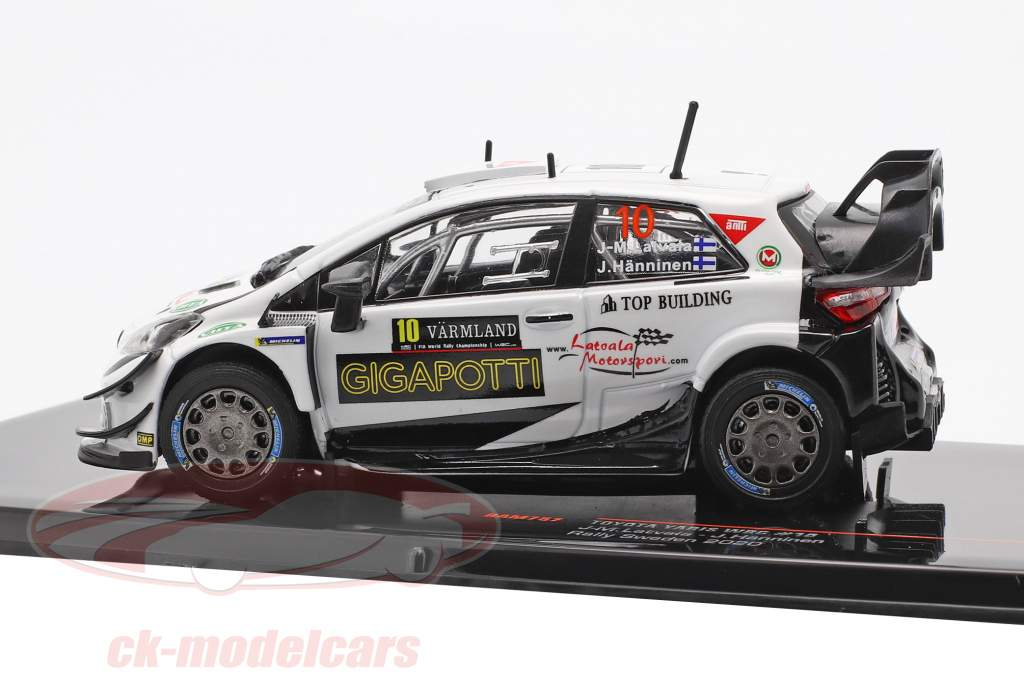 Toyota Yaris WRC #10 Rallye Suède 2020 Latvala, Hänninen 1:43 Ixo