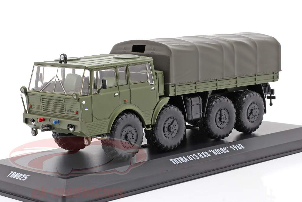 Tatra 813 8x8 Kolos Militær køretøj Byggeår 1968 oliven grøn 1:43 Ixo