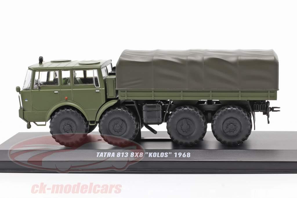Tatra 813 8x8 Kolos Militair voertuig Bouwjaar 1968 olijfgroen 1:43 Ixo
