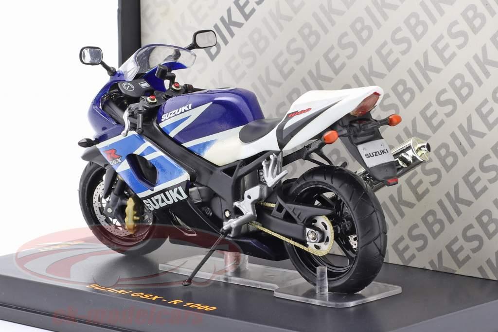 Suzuki GSX-R 1000 blu / bianca 1:24 Ixo