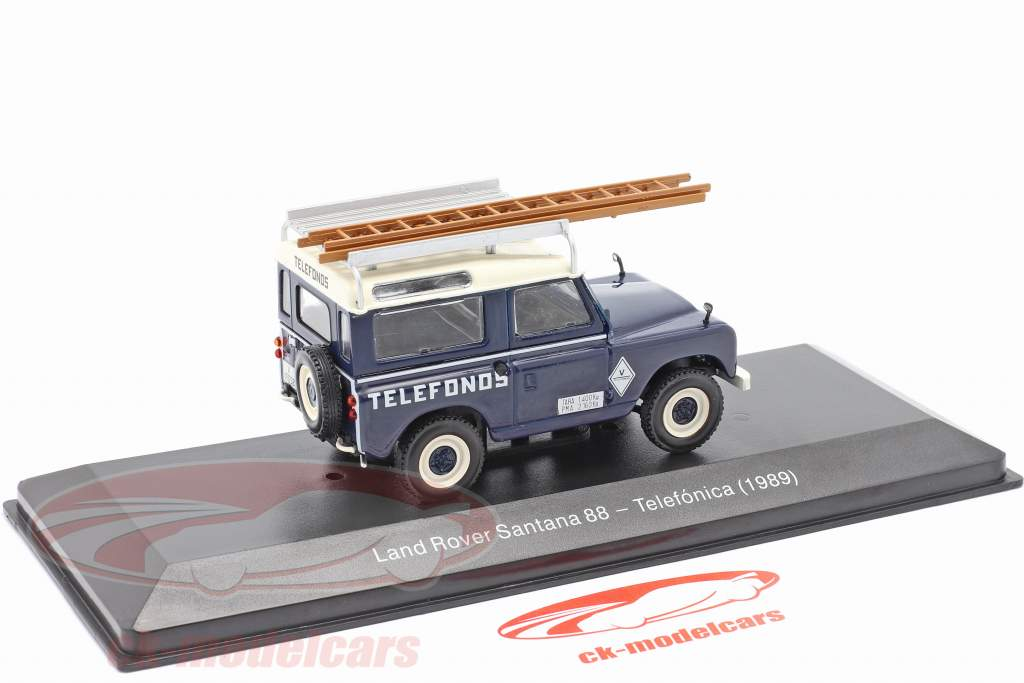 Land Rover Santana 88 Telefonica Année de construction 1989 bleu / blanc 1:43 Altaya