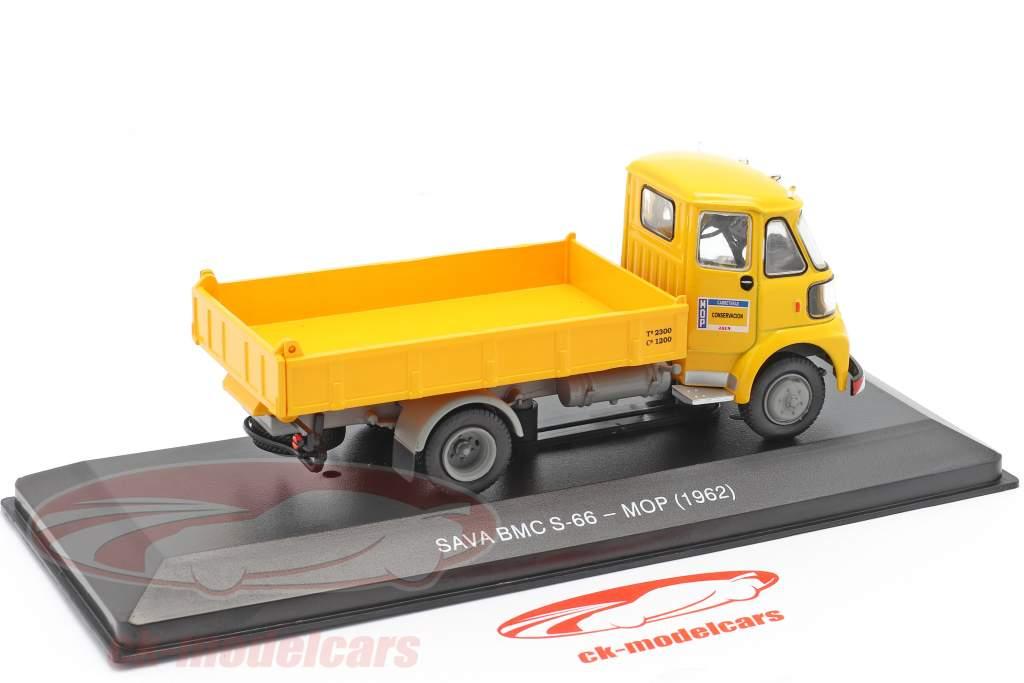 Sava BMC S-66 Caminhão MOP Ano de construção 1962 amarelo 1:43 Altaya