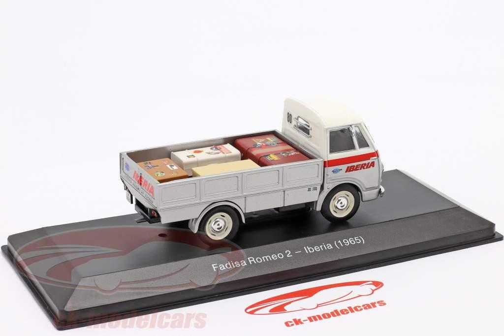 Fadisa Romeo 2 Transportør Iberia Byggeår 1965 sølv / hvid / rød 1:43 Altaya