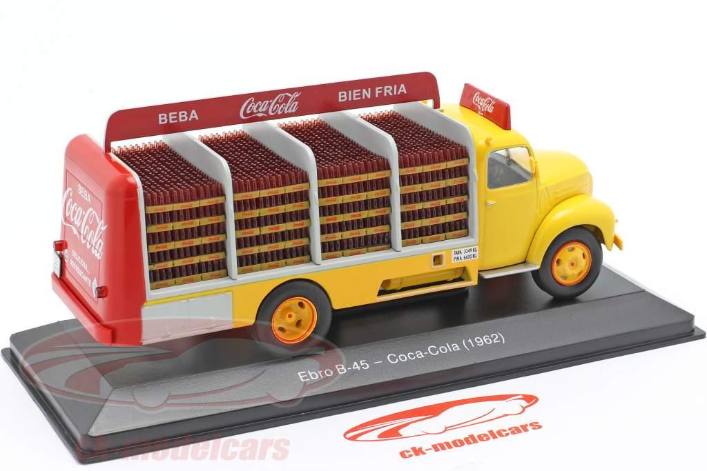 Ebro B-45 Lastbil Coca-Cola Byggeår 1962 gul / rød 1:43 Altaya
