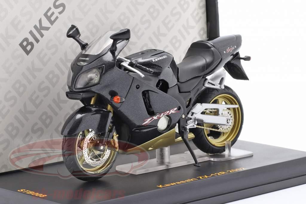 Kawasaki ZX-12R år 2002 sort 1:24 Ixo