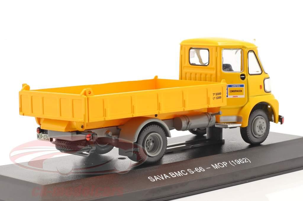 Sava BMC S-66 Lastbil MOP Byggeår 1962 gul 1:43 Altaya