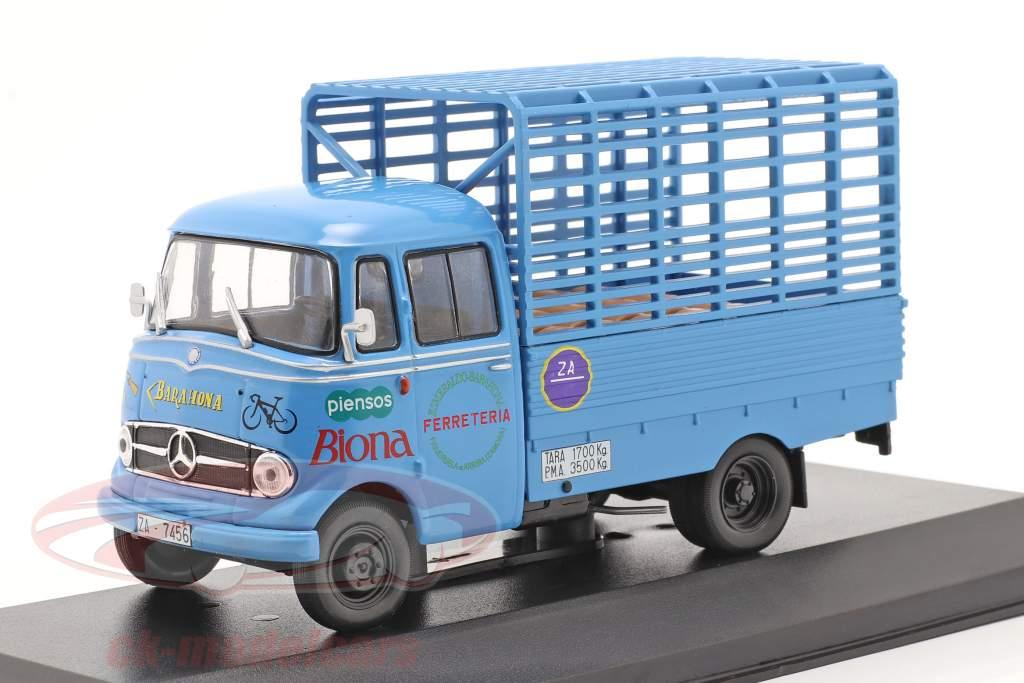 Mercedes-Benz L-319D Truck Biona year 1963 blue 1:43 Altaya