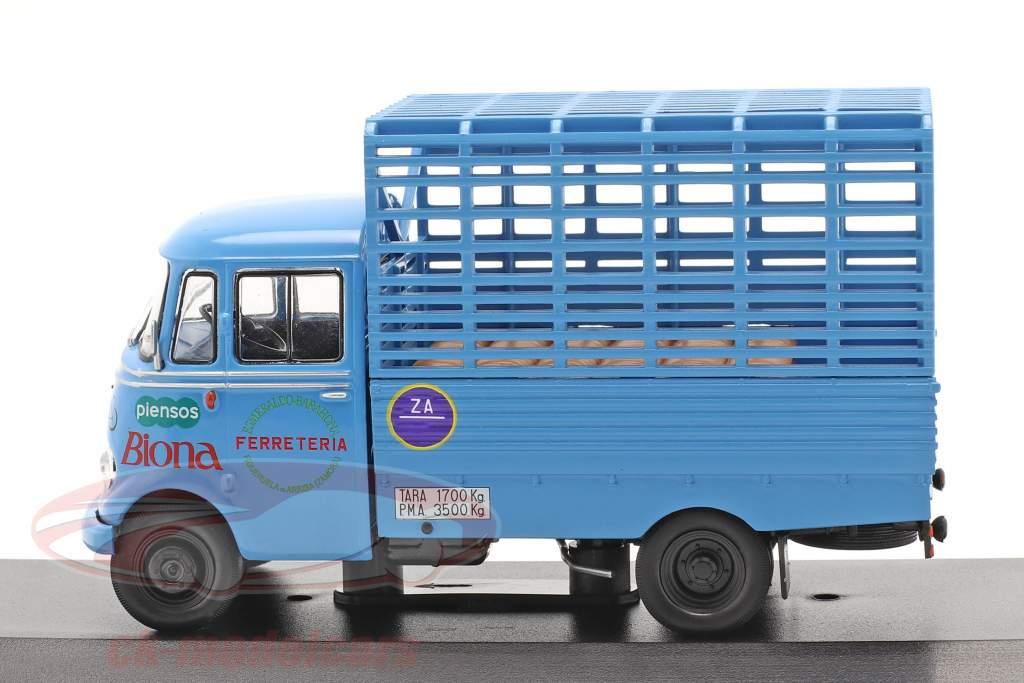 Mercedes-Benz L-319D camion Biona Année de construction 1963 bleu 1:43 Altaya