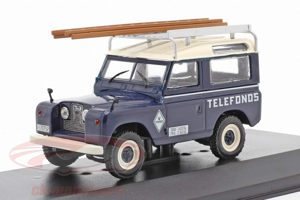 Land Rover Santana 88 Telefonica Baujahr 1989 blau / weiß 1:43 Altaya