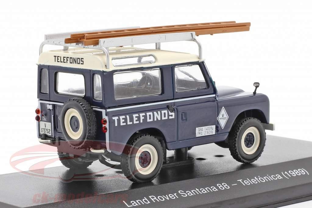 Land Rover Santana 88 Telefonica Byggeår 1989 blå / hvid 1:43 Altaya