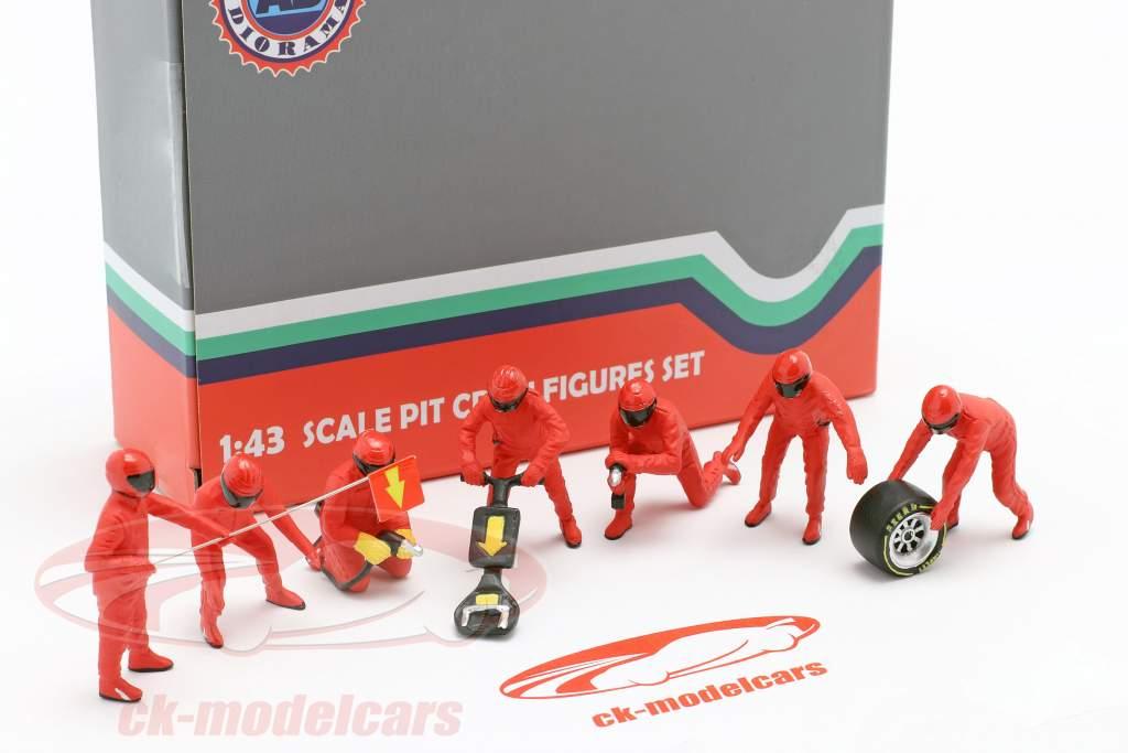 fórmula 1 Pozo tripulación caracteres Set #1 equipo rojo 1:43 American Diorama