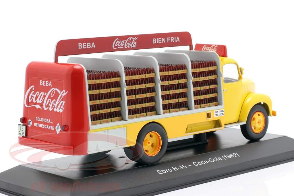 Ebro B-45 Camión Coca-Cola Año de construcción 1962 amarillo / rojo 1:43 Altaya
