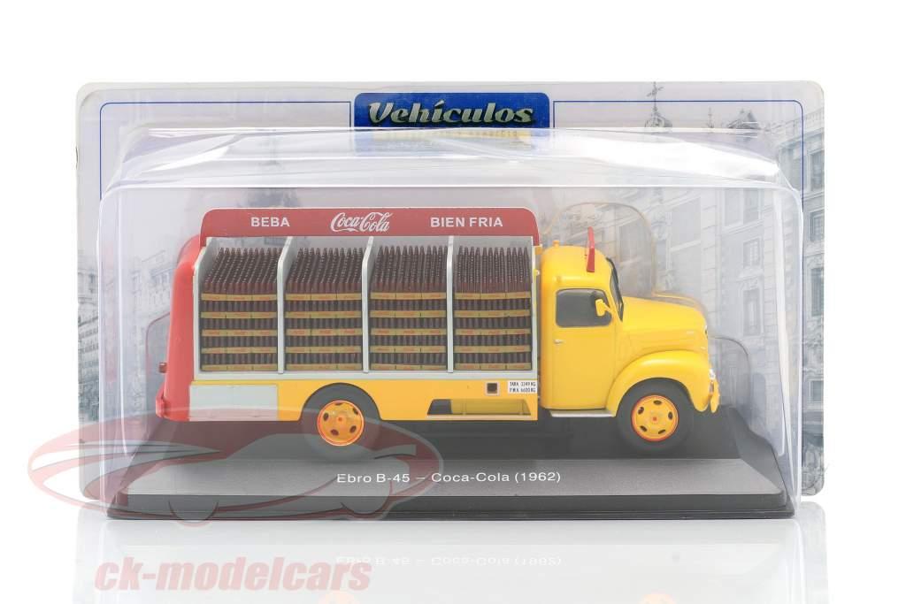 Ebro B-45 Camion Coca-Cola Anno di costruzione 1962 giallo / rosso 1:43 Altaya