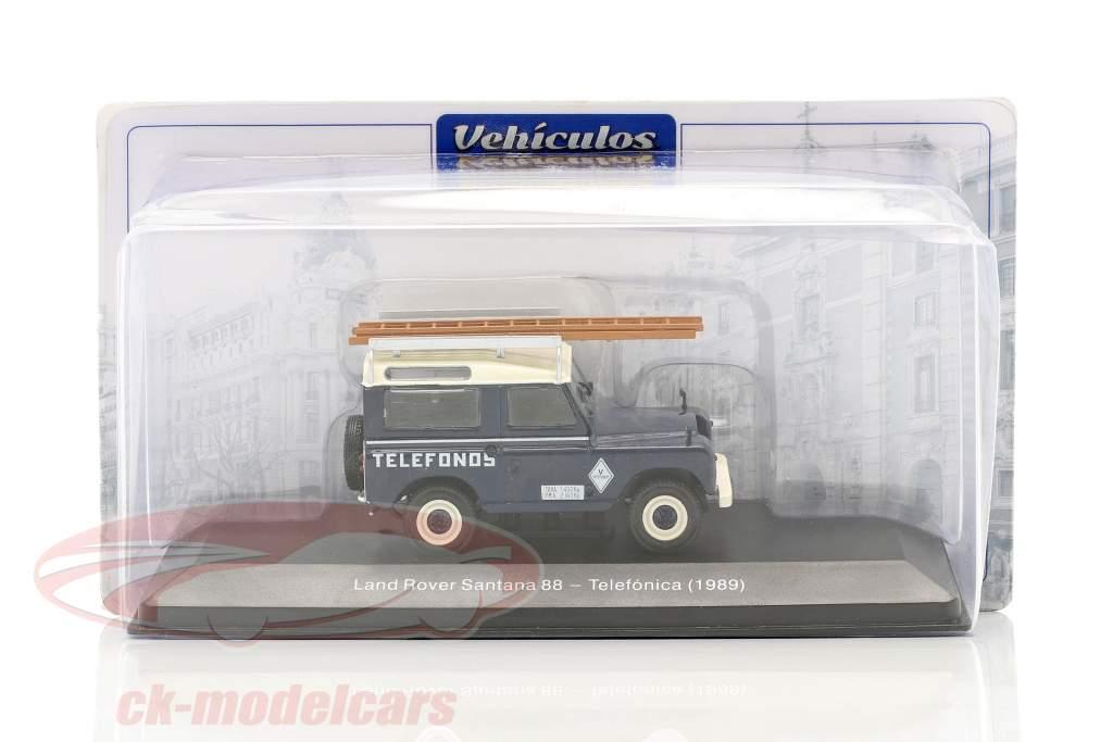 Land Rover Santana 88 Telefonica Anno di costruzione 1989 blu / bianca 1:43 Altaya