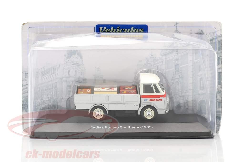 Fadisa Romeo 2 Trasportatore Iberia Anno di costruzione 1965 argento / bianca / rosso 1:43 Altaya