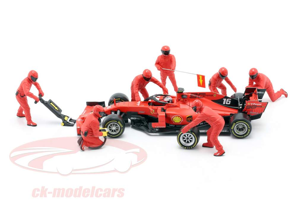 Formel 1 Pit Crew Figuren-Set #1 Team Rot 1:18 American Diorama