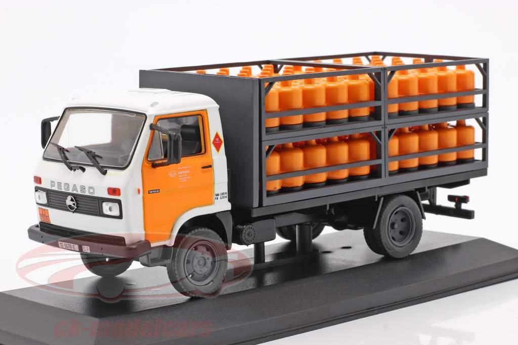 Pegaso Ekus Vrachtwagen Repsol Butano Bouwjaar 1988 Wit / geel 1:43 Altaya