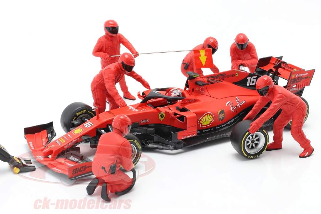 formule 1 Pit bemanning karakters Set #1 team rood 1:18 American Diorama