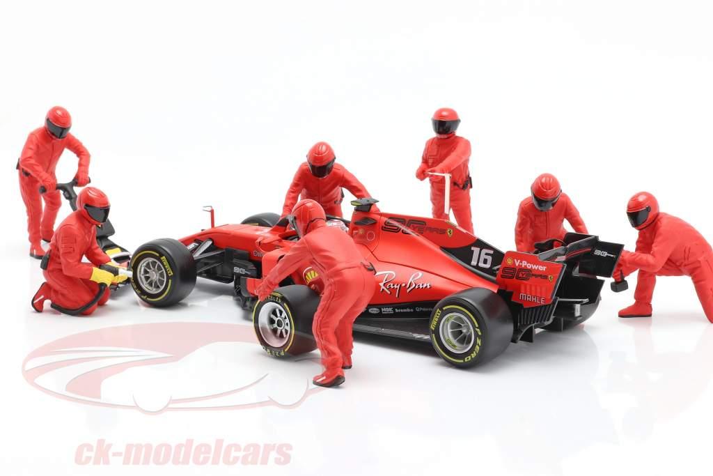 formula 1 Pit equipaggio personaggi Set #1 squadra rosso 1:18 American Diorama