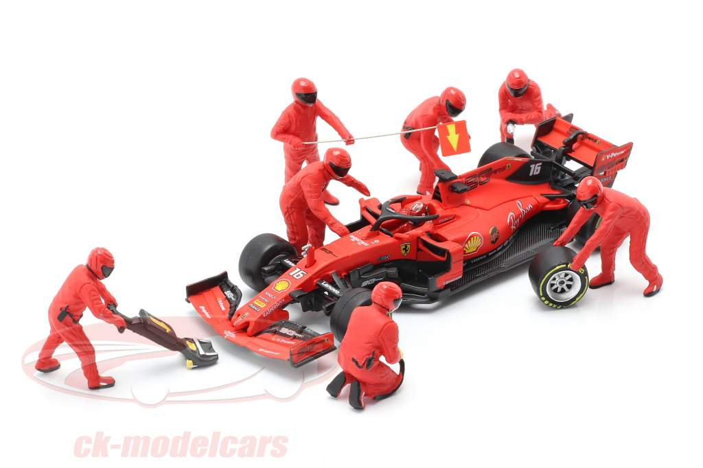 Formel 1 Pit Crew Figuren-Set #1 Team Rot 1:43 American Diorama