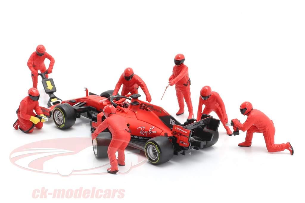 formule 1 Pit bemanning karakters Set #1 team rood 1:43 American Diorama