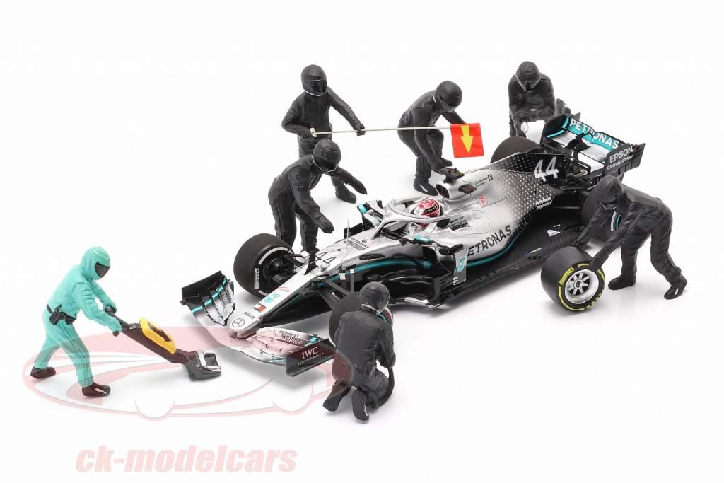 formule 1 Fosse équipage personnages Set #1 équipe noir 1:43 American Diorama