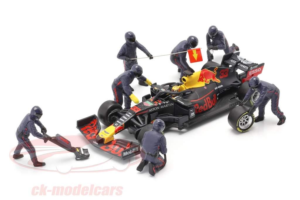 Fórmula 1 Cova equipe técnica personagens Set #1 equipe azul 1:43 American Diorama